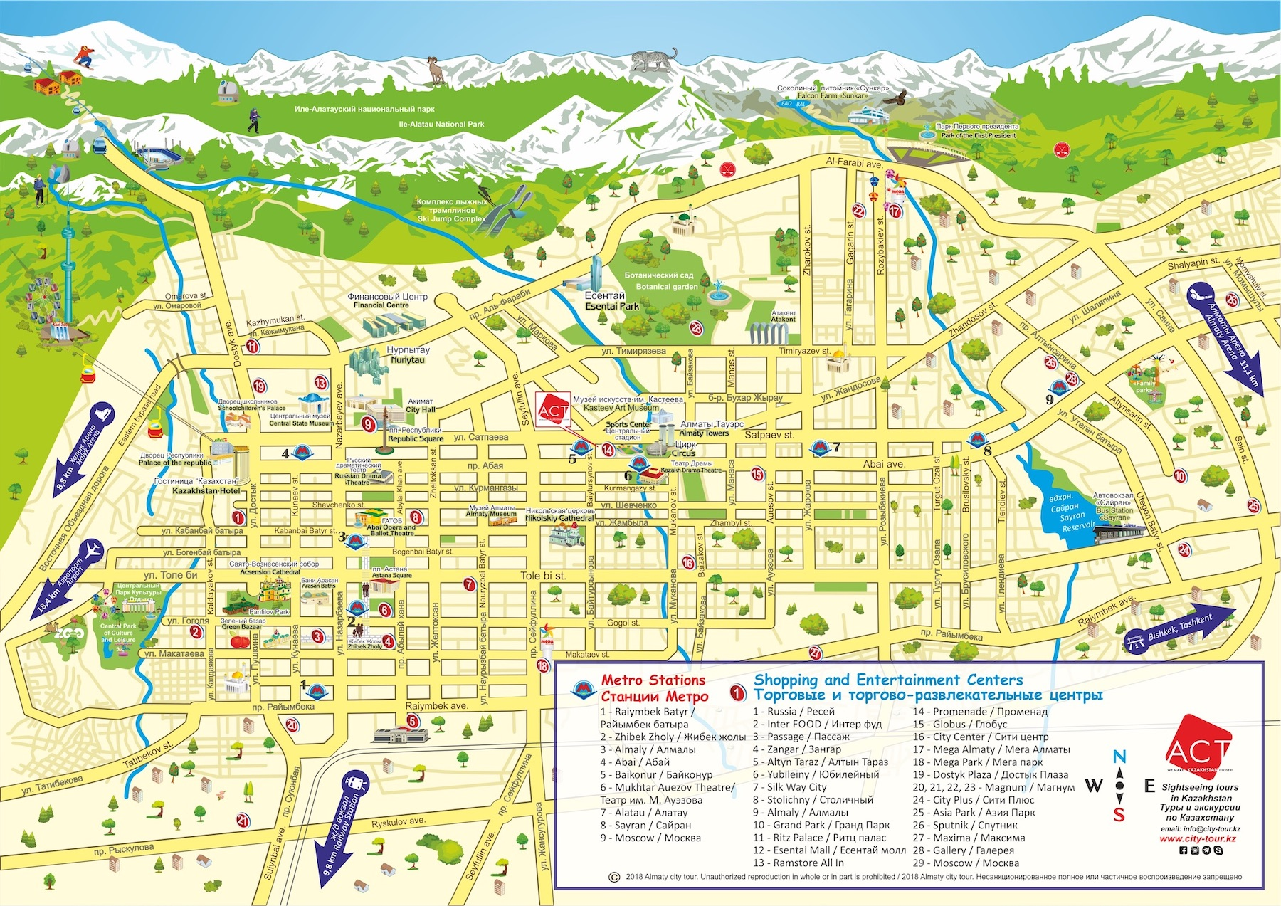 Almaty map new